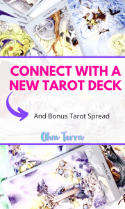 How to connect with a new tarot deck pin