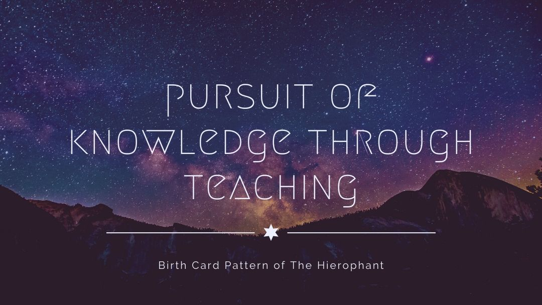 Pursuit of Knowledge through Teaching Birth Card Pattern